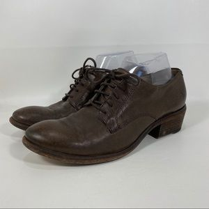 Frye Carson Oxford Lace Up Bootie Shoes Size 8